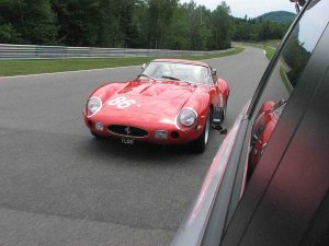 Ferrari 250 GTO out ride side of minivan