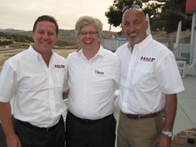 Bobby Rahal, Zak Brown and Matthew Barksdale at Monterey Historics