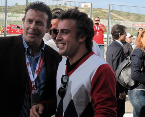Drive Hanging Out With Fernando Alonso - First appearance with Ferrari