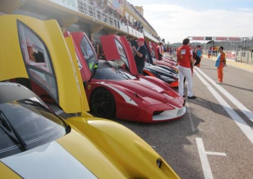 Ferrari FXX cars in Valencia