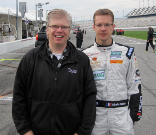 Matthew Barksdale with Sebastien Bourdais