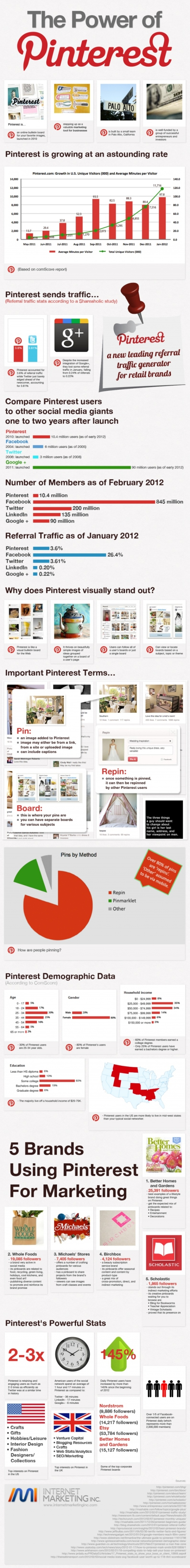 Power of Pinterest Infographic